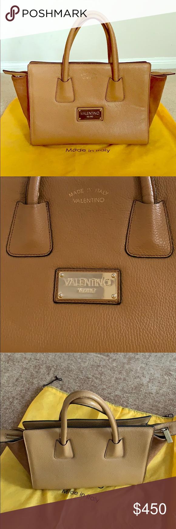 ed1601926b78 VALENTINO by Mario Valentino Kiria Authentic Looks like new Barely used  Color caramello Valentino Bags Totes
