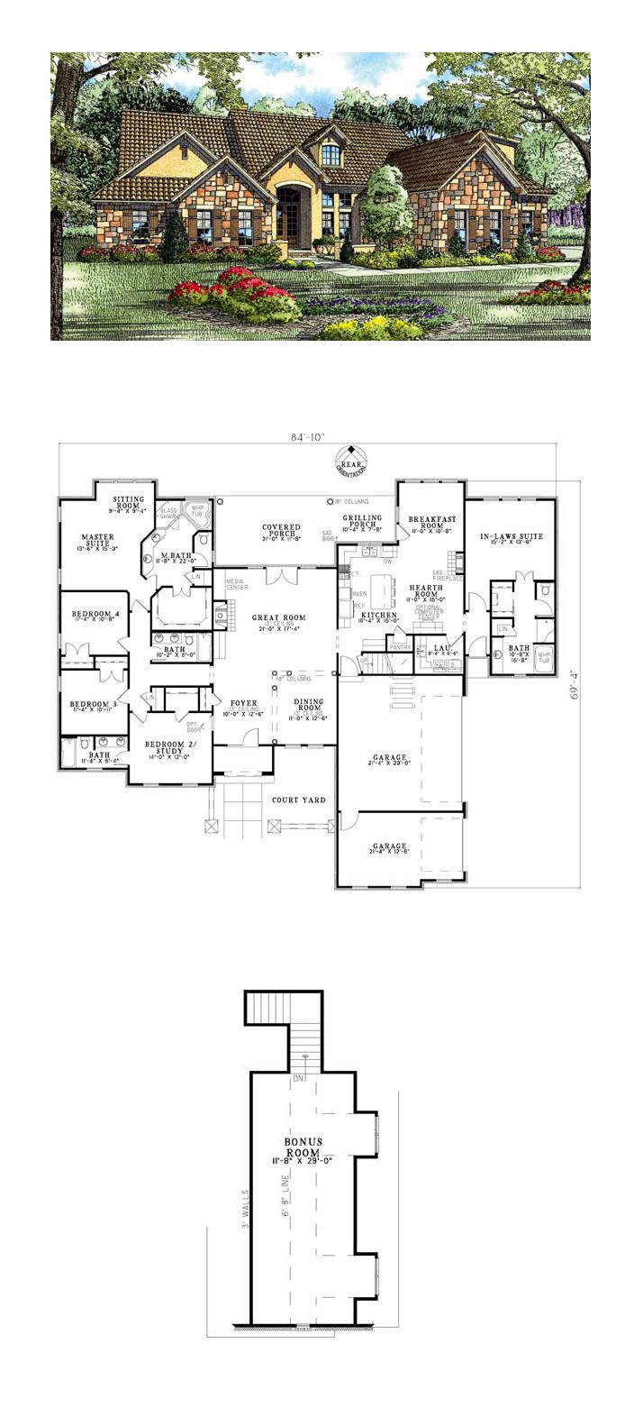 In Law Suite COOL House Plan ID chp 34304