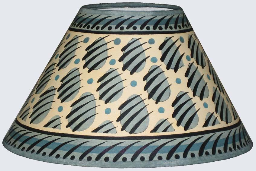 Grey Blue Paw Print Lampshade Lamp Shades Painting Lamps Cressida Bell