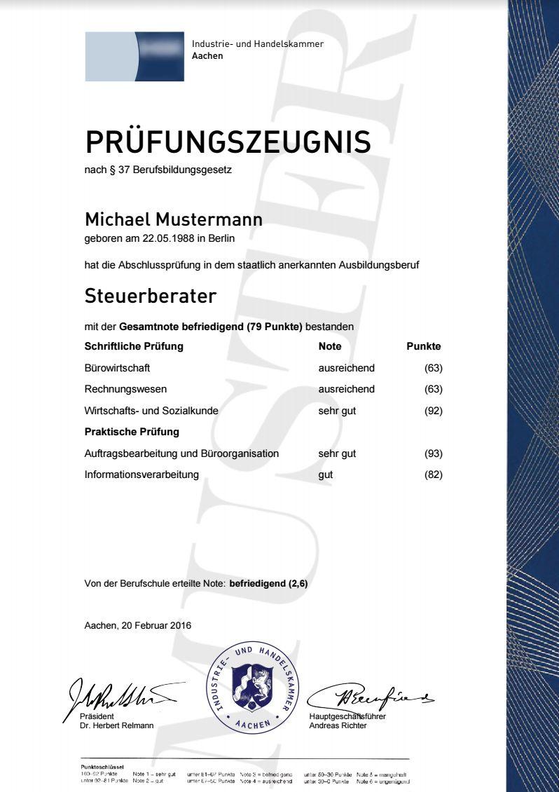 IHK Prüfungszeugnisse   Berufszertifikate & Diplome, Prüfungszeugnis ...