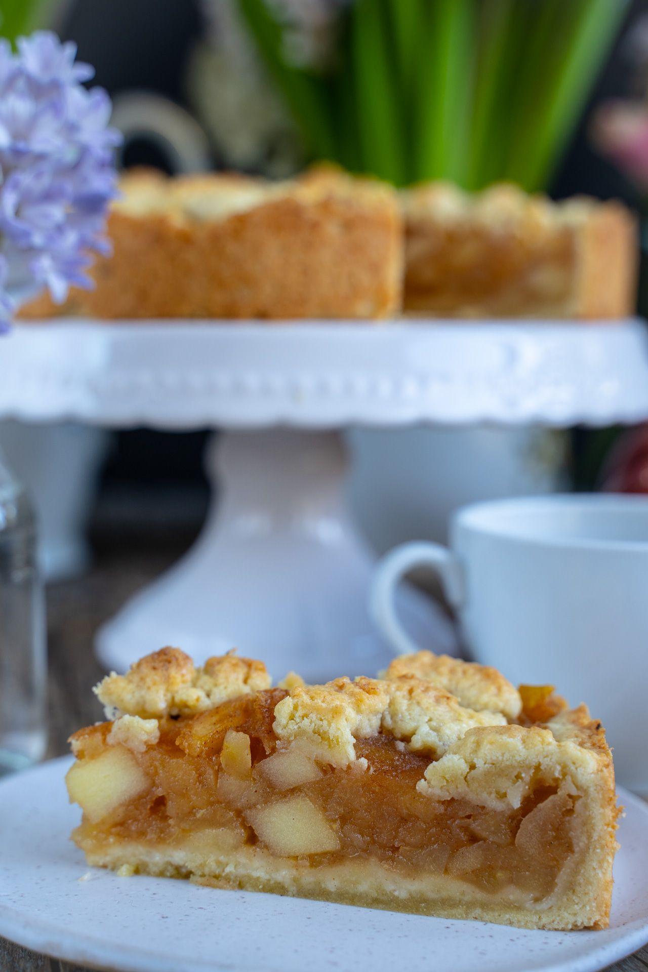 Apfel Streusel Kuchen Vegan 6 Zutaten Rezept Rezept In 2020 Kuchen Und Torten Rezepte Streusel Kuchen Streuselkuchen Rezept