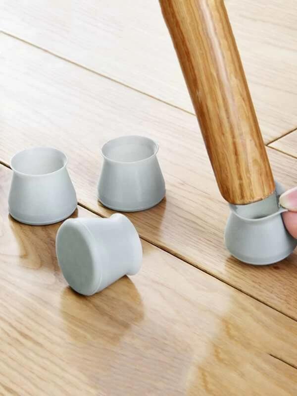 4pcs Anti Noise Chair Leg Protector Romwe In 2020 Chair Leg Covers Chair Legs Furniture Legs