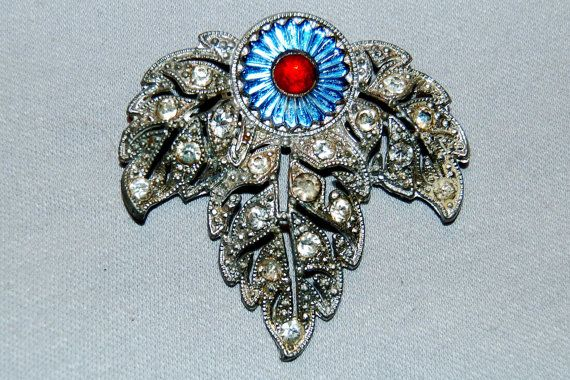 Vintage / Large / Brooch / Art Deco / by AmericanHomestead on Etsy