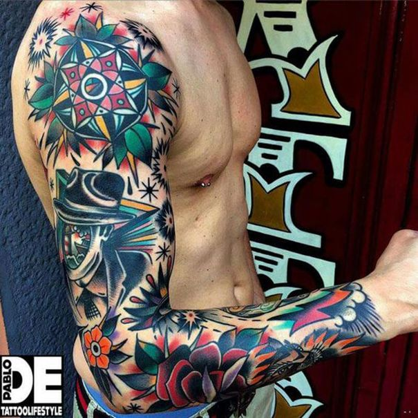 18 Amazing Leo Sleeve Tattoos: Sleeve Tattoos 2018 For Men