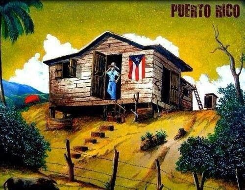 Painting of a puerto rico country house in the early 1900 for House plans puerto rico