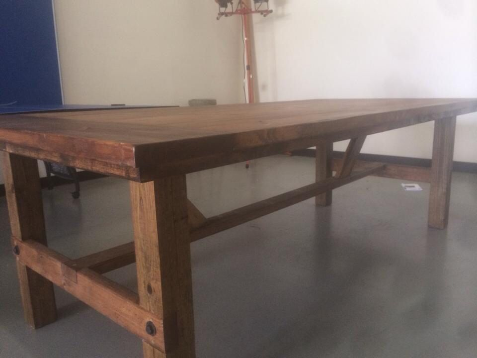 Custom Farmhouse Conference Table For A Business Custom Built Wood - Farmhouse conference table