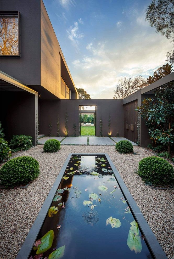 astonishing better homes and gardens magazine archives. Stunning linear water feature in a contemporary garden  adamchristopherdesign co uk The Perfect Paint Schemes for House Exterior Modern architecture