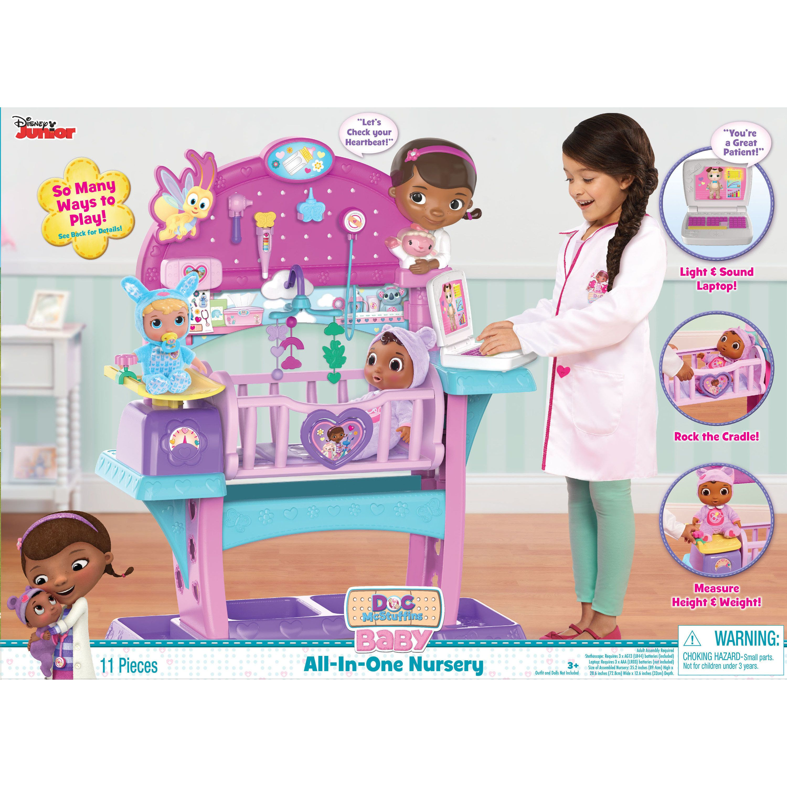 Doc Mcstuffins Baby All In One Nursery Walmart Com Doc Mcstuffins Toys Baby Nursery Sets Baby All In One