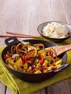 Unser neuer Küchenfavorit: der Wok. Viel knackiges Gemüse und saftiges Fleisch ...   - rezepte allgemein -