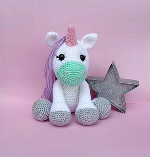 Crocheted Magical Ursula Unicorn [FREE Amigurumi Pattern+Tutorial ... | 320x306