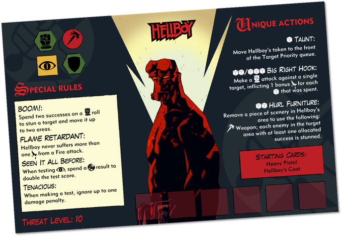 Hero Card Hellboy The Board Game Games, Game design