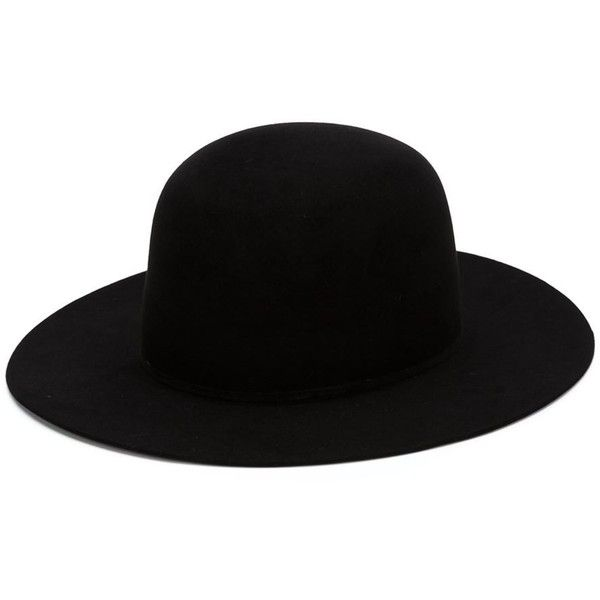Ilariusss felt hat (1,240 BAM) ❤ liked on Polyvore featuring accessories, hats, black felt hat, black hat and felt hat