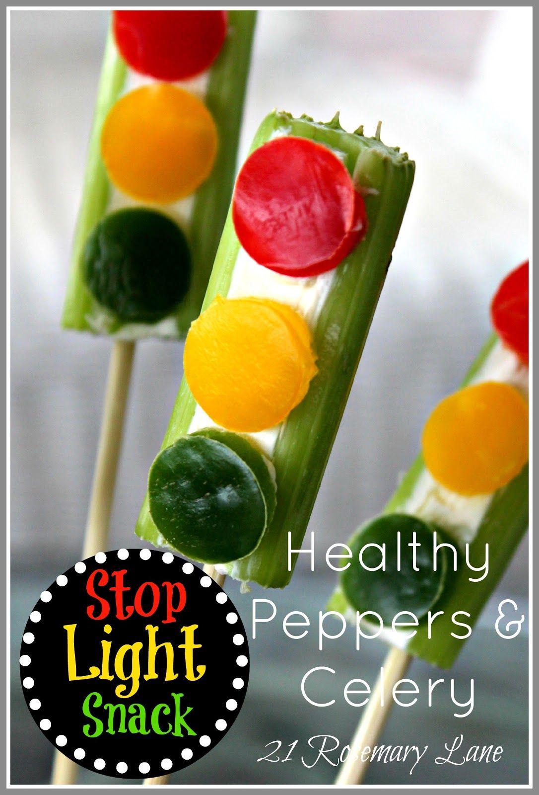 """21 Rosemary Lane: Healthy """"Traffic Light"""" Veggie Snack"""