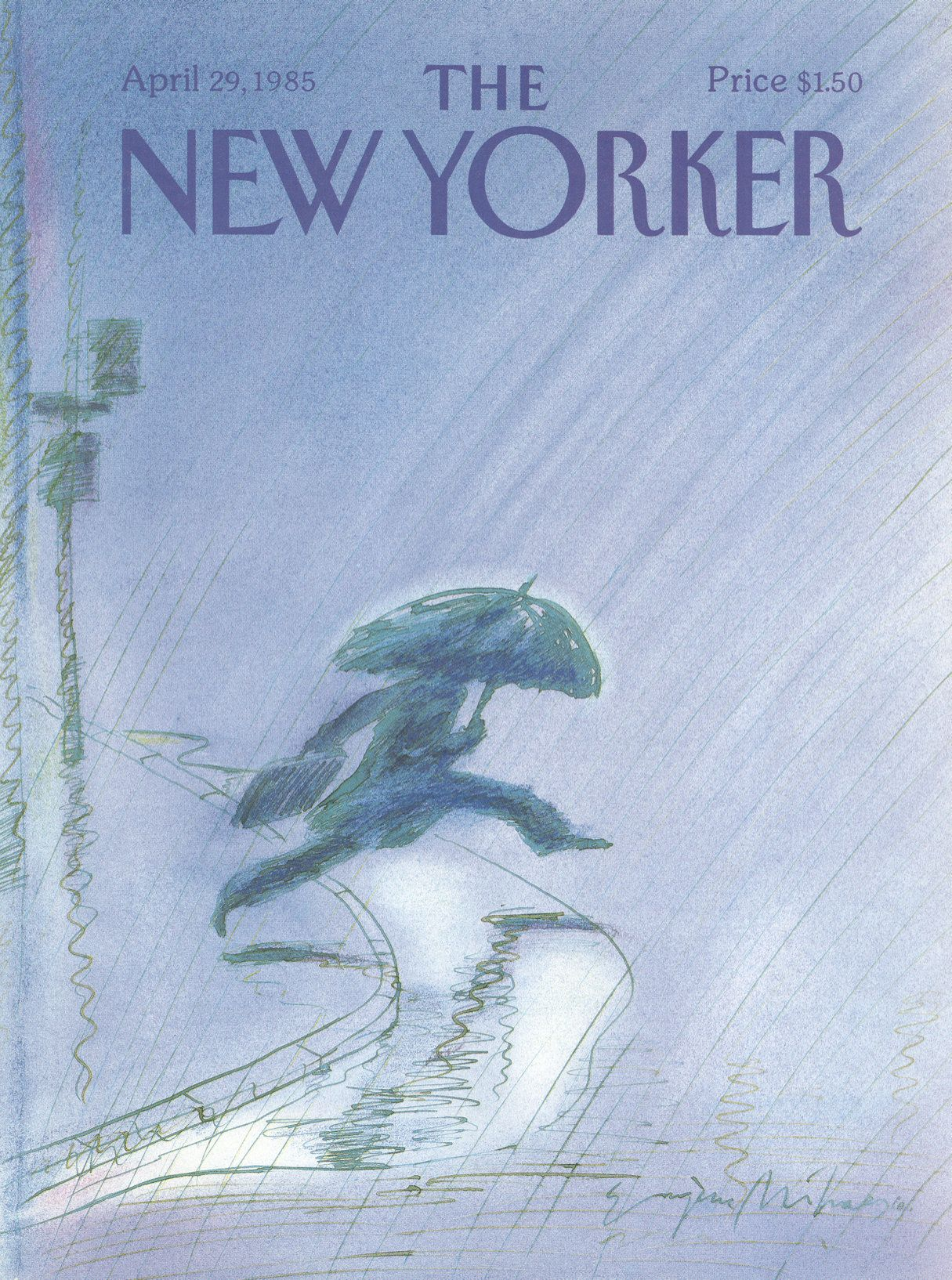 The New Yorker - Monday, April 29, 1985 - Issue # 3141 - Vol. 61 - N° 10 - Cover by : Eugène Mihaesco