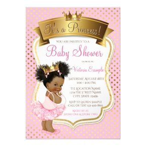 African american princess baby shower invitations princess baby african american princess baby shower invitations negle Choice Image