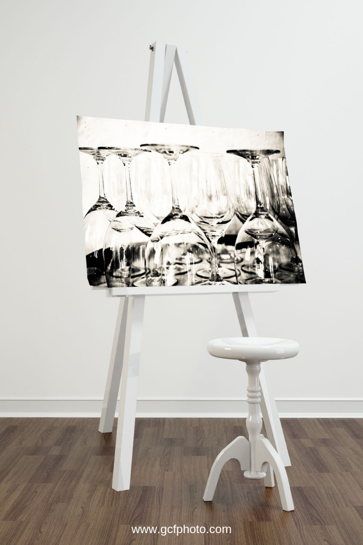 Abstract Wine Bottles Canvas Art Print | Wine painting