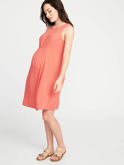 0e98c6dc3f5a2 Old Navy Maternity High-Neck Shirred-Waist Shift Dress | Products ...