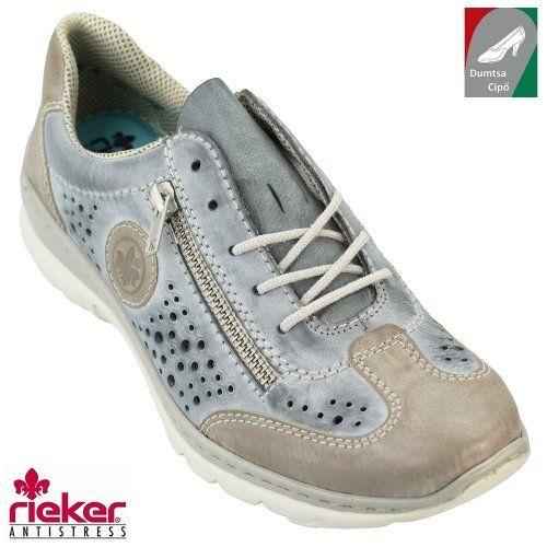 Rieker női bőr cipő L3215-42 kék kombi  a8027a6d4b
