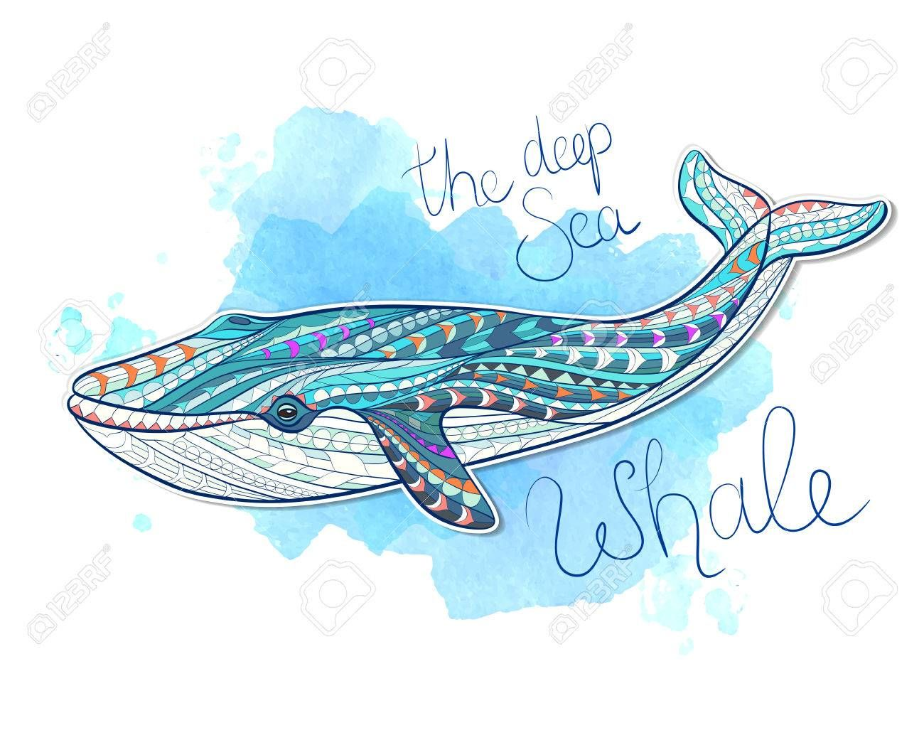 Patterned Whale On Grunge Background Indian Totem Tattoo Design It May Be Used For Design Of A T Shirt Bag Postcard A Post Totem Tattoo Whale Whale Tattoos