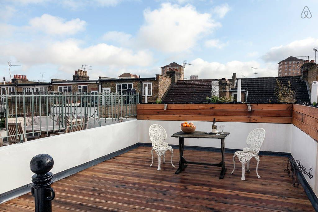View from Reception Room onto Roof Terrace South East facing
