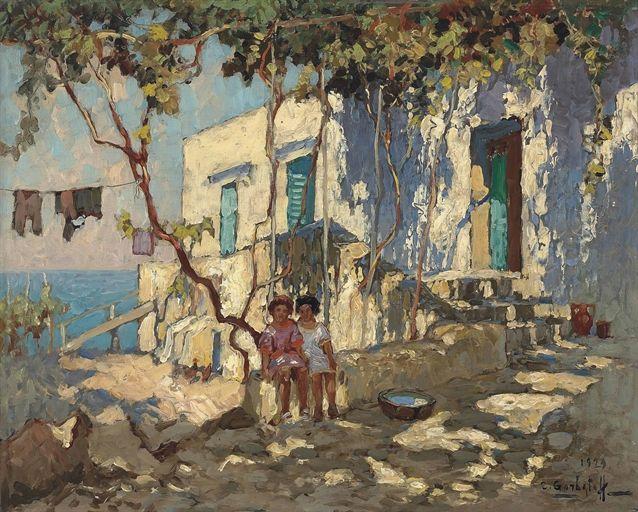 Konstantin Gorbatov (1876-1945) Resting in the shade, Capri