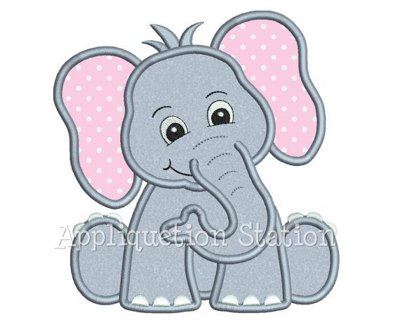 Zoo Baby Elefant Applikation Maschine Stickerei Design Dschungel junge Mädchen süße Safari Tier INSTANT DOWNLOAD