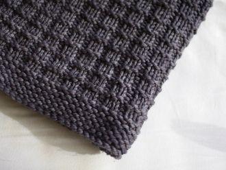 waffles baby blanket | Baby blanket knitting pattern