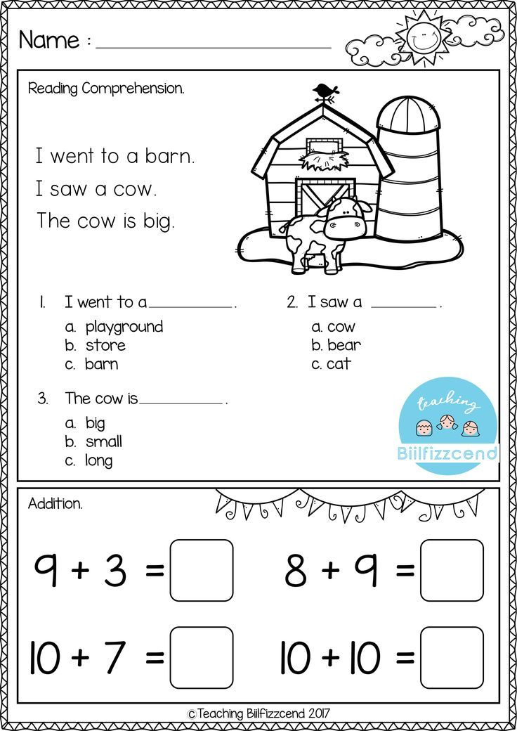 FREE Kindergarten Morning Work | Matematika