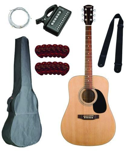 Fender Starcaster Acoustic Natural Guitar Kit Guitar Kits Guitar Fender Starcaster