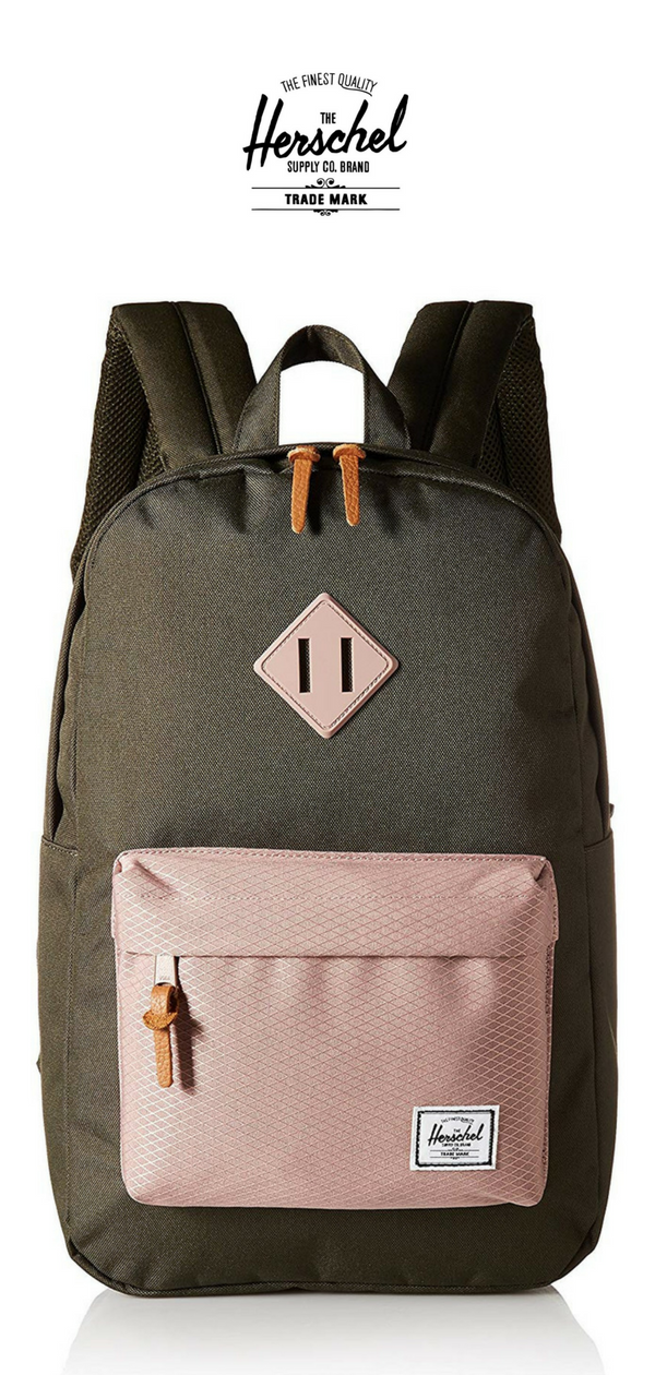 Herschel Supply Co. Heritage Mid Volume Backpack   Forest Night Ash Rose    Click for More Herschel Backpack Ideas! 4aa90ca721