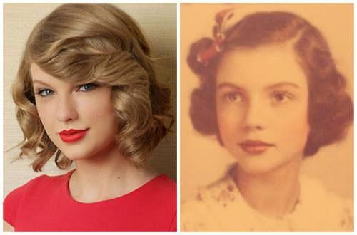Taylor Swift e sua avó jovem