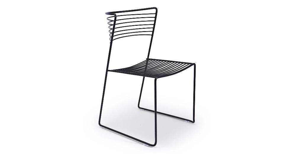 Chaise Design Metal Noir Shibuya Nv Gallery En 2020 Chaise Acier Chaise Empilable Chaise Design
