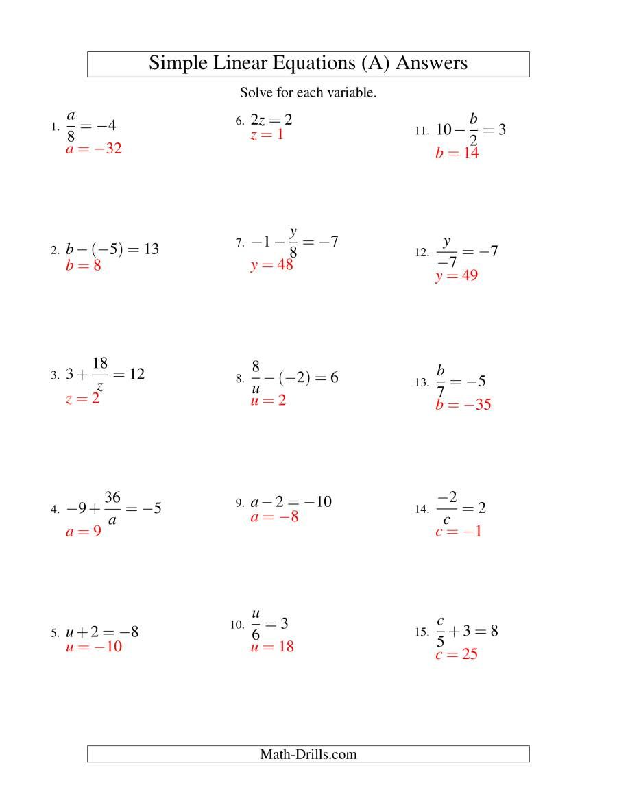 The Solving Linear Equations Including Negative Values Form Ax B C Variations A Math Wo Solving Linear Equations Linear Equations Algebra Worksheets [ 1165 x 900 Pixel ]
