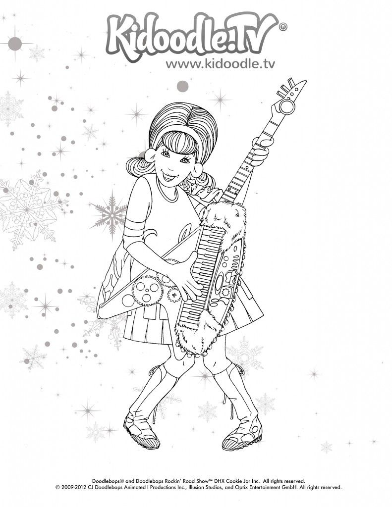 Doodlebops Printable Coloring Sheets - Kidoodle.TV Blog | Teaching ...