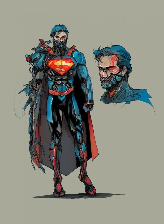 Official art for the introduction of Cyborg Superman into the new 52 universe.