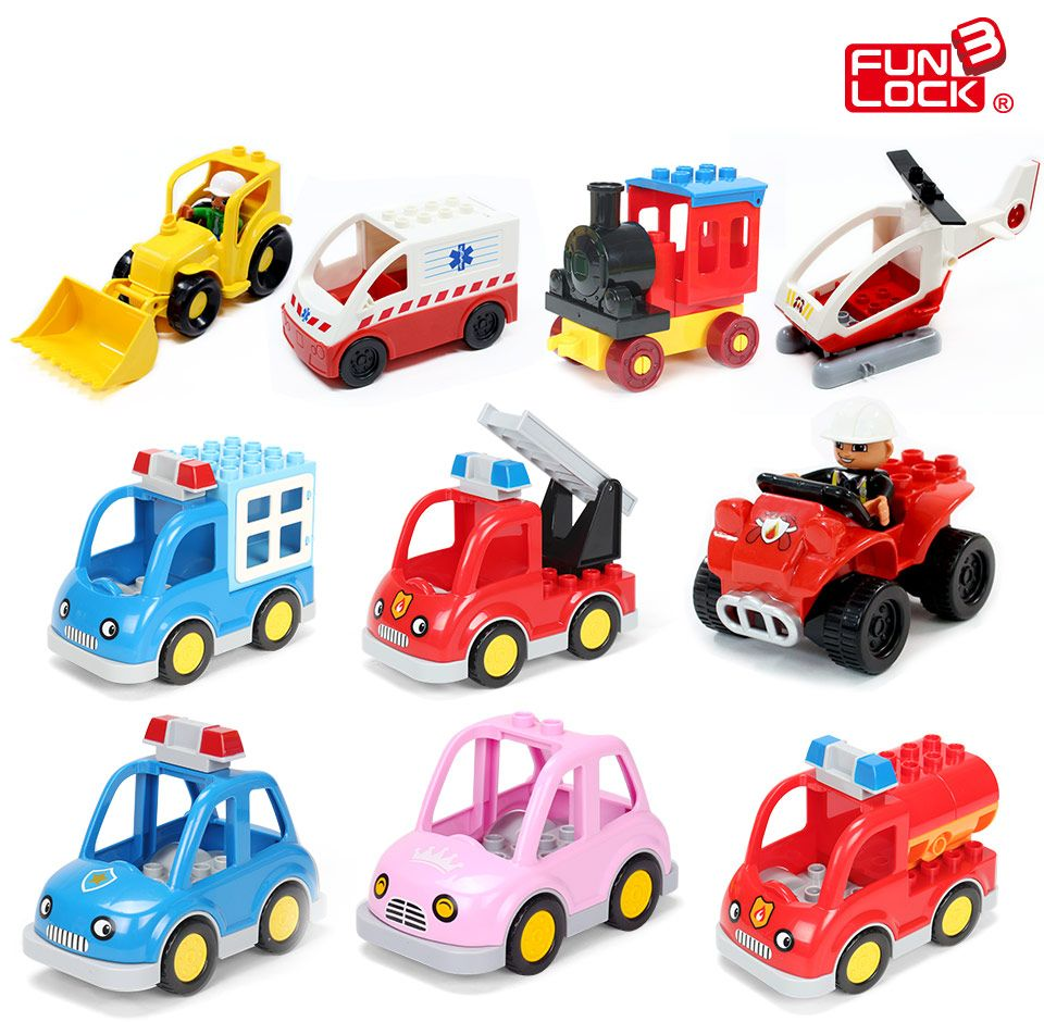 Jeep toys for kids  Funlock Duplo Blocks Toys City Transportation Series Vehicle Bricks