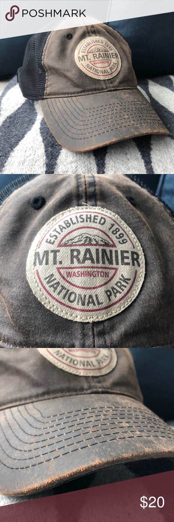 c4328390734808 Mt Rainier National Park hat Mt Rainier National Park hat Distressed Worn a  couple times In perfect condition legacy Accessories Hats