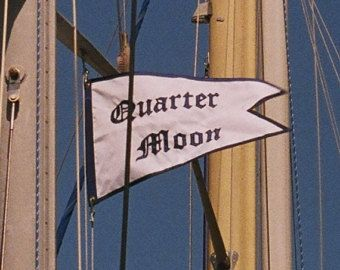 Nautical Flag Banner Custom Made Dovetailed with Your Boat Name 16x24 inch