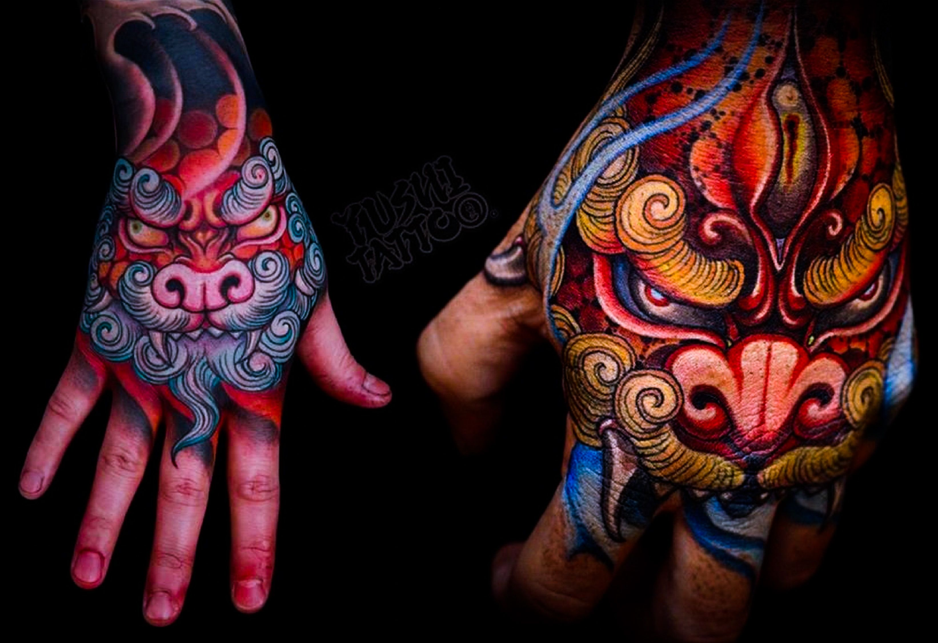 Tattoo Done By Yushi Tattooist Based In Seoul South Korea Japanese Hand Tattoos Badass Tattoos Tattoos