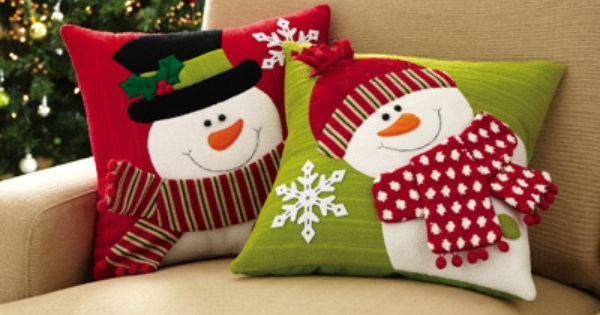 Set of 2 Holiday Snowman Accent Pillow Covers | Cojines de Navidad | Pinterest | Accent Pillows, Pillow Covers and Snowman
