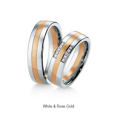 Impressive 2 Colour Wedding Ring 6mm for UK LGBT gay marriage and