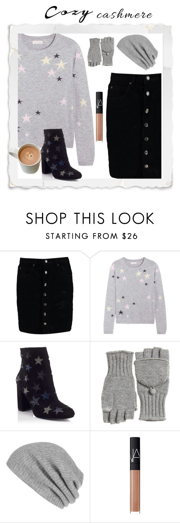 """""""cozy cashmere"""" by zeepanda ❤ liked on Polyvore featuring Boohoo, Chinti and Parker, Miss Selfridge, Calypso St. Barth, White + Warren and NARS Cosmetics"""