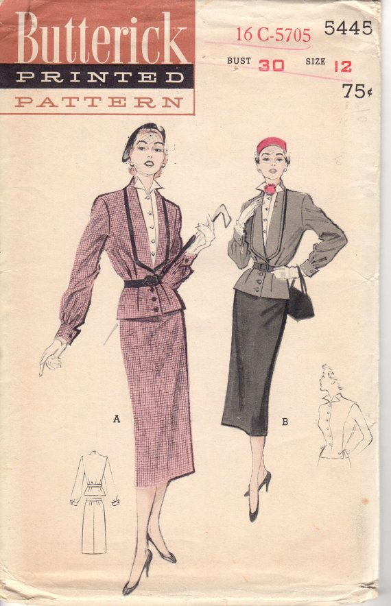 FACTORY FOLDED Misses' Two-Piece Suit-Dress Butterick by HelaQ