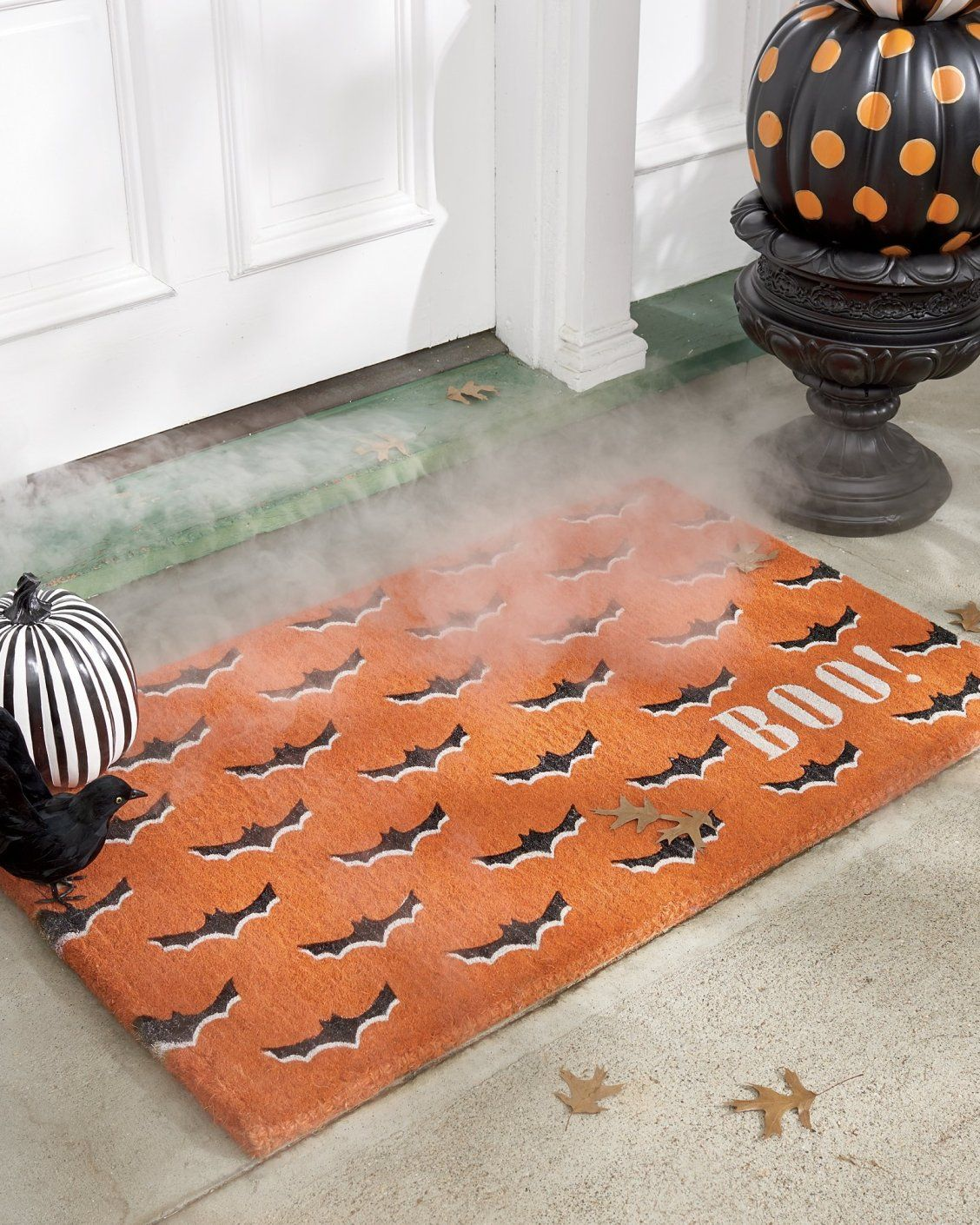 Get One For The Bat Cave Our Orange Bats Mat Is Crafted Entirely From Woven