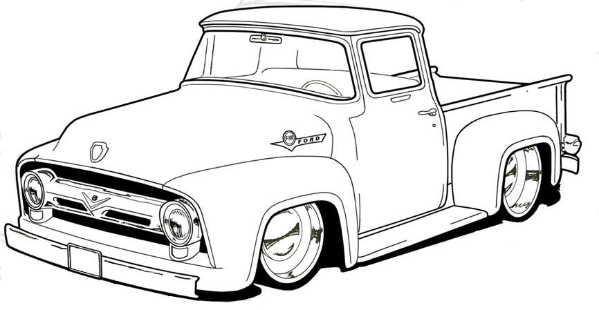 Pin By Krakit On Wonderful Illustrations Truck Coloring Pages Pickup Trucks Old Trucks
