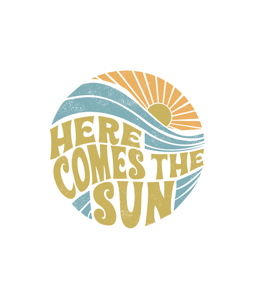 Summer Here Comes The Sun Vintage T Shirt Graphic Tees In
