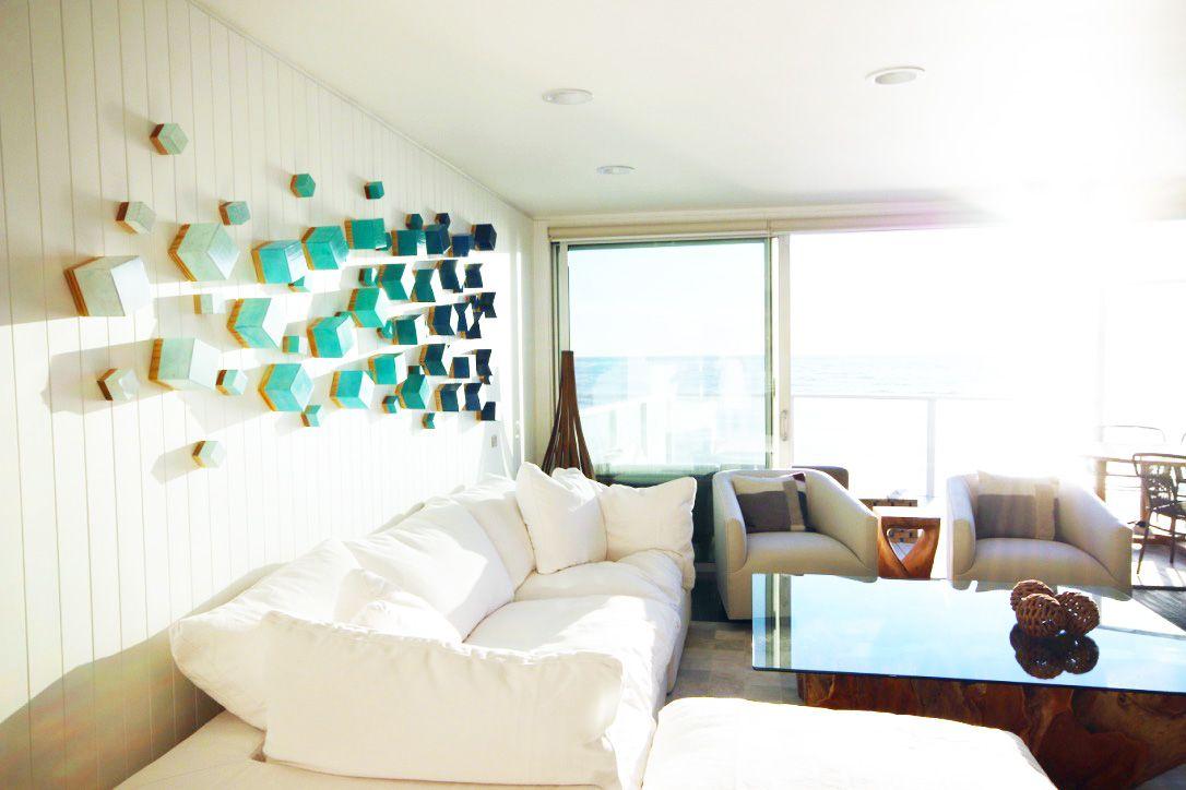 Beach Inspired Wall Art Modern Beach House Decor Wood Wall