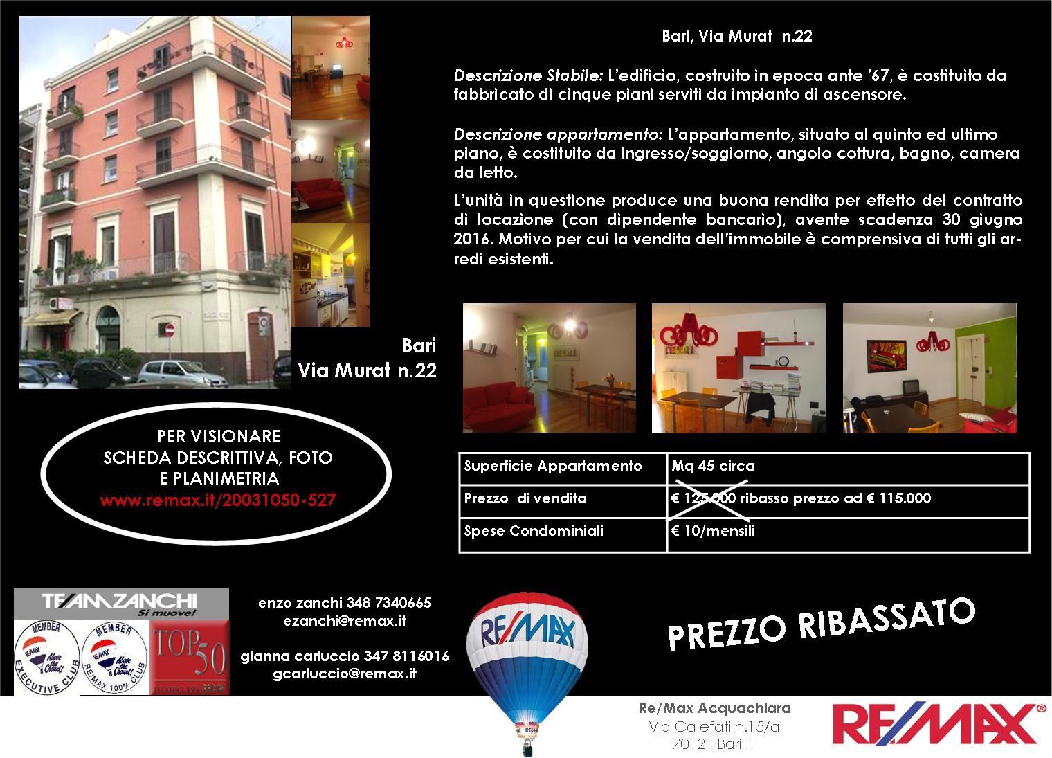 PREZZO APPENA RIBASSATO Bari, Via Murat (adiacente ...