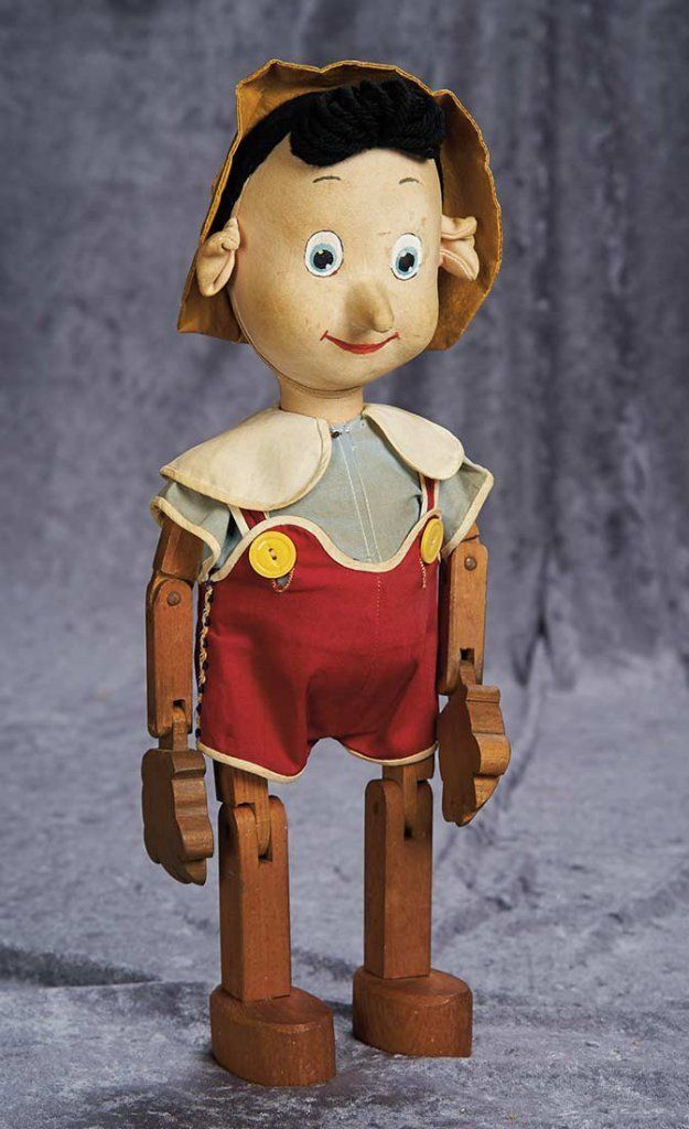 """20/"""" New Pinocchio Toy Figure Doll Wood Italy Articulate Puppet"""