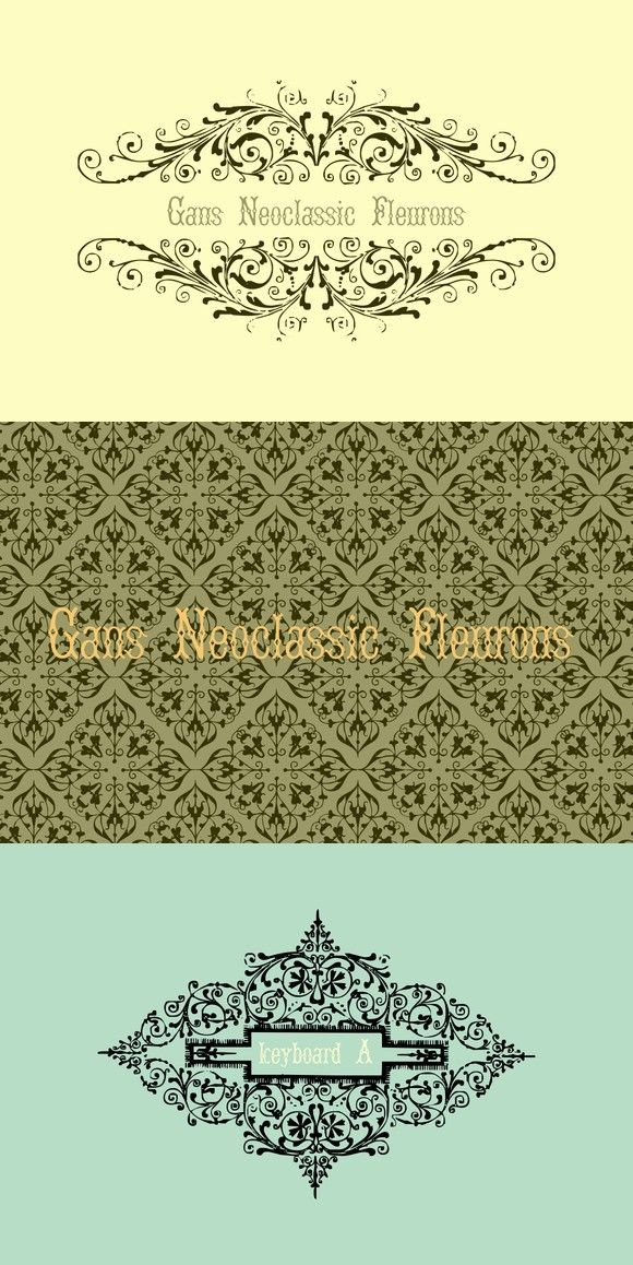 Gans Neoclassic Fleurons Symbols And Fonts